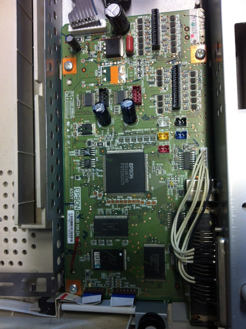 Formatterboard for EPSON LQ-300k+II LQ300k+II Motherboard LQ300k+2 Formatterboard Interface Board printhead for epson lq 300k lq300k lq305k 300k original used print head printer parts on sale