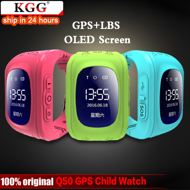 KGG אנטי איבד Q50 OLED ילד GPS Tracker SOS חכם ניטור מיצוב טלפון ילדים GPS תינוק שעון תואם IOS & אנדרואיד