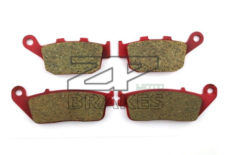 Brake Pads Ceramic For HONDA VT 250 FL Spada/Castel 1988-1990 Front + Rear OEM New High Quality ZPMOTO motorcycle front and rear brake pads for honda vt250fl spada castel 1988 1990