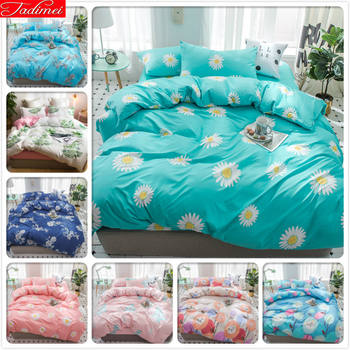 Big Pillows For Bed | Blue Floral Pattern Duvet Cover 3/4 Pcs Bedding Set Bed Linens Duvet Cover Sheet Quilt Comforter Pillow Case Queen King Big Size