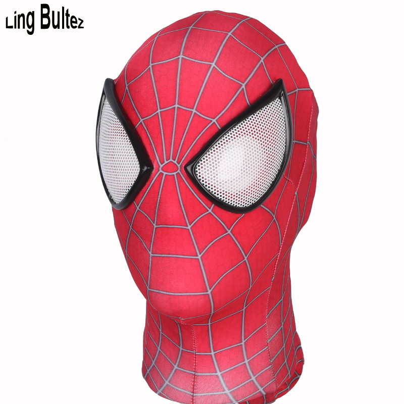Ling Bultez High Quality Classic 3D Print Amazing Spiderman Mask Hot Sale Spiderman Face Mask Super