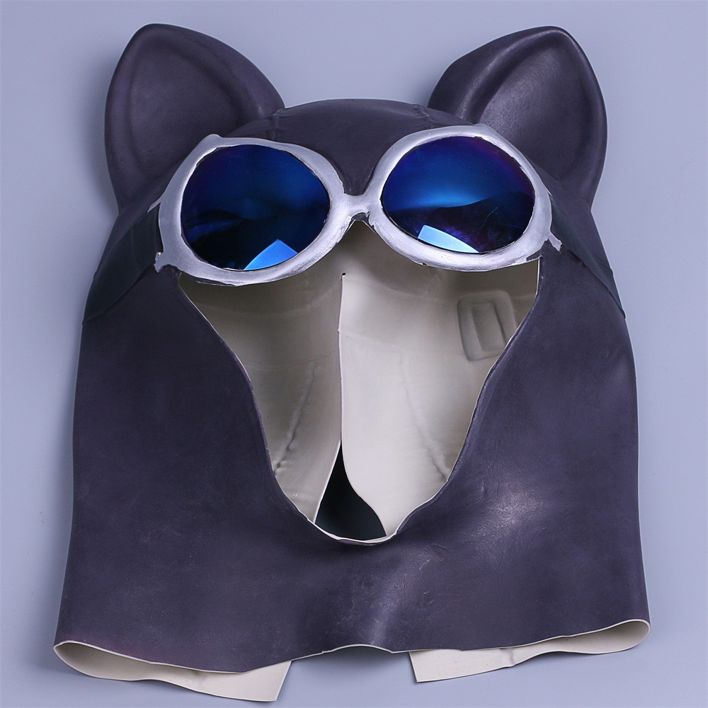 Cosplay Catwoman Mask Black Latex Cat Mask Cat Woman Batman Halloween Mask Prop (7)