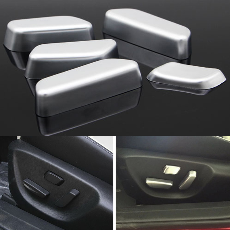 ABS For Mazda 6 Atenza Interior Power Seat Adjustment Switch Cover Trims Car Styling Auto Accessories 5pcs