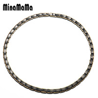 Power Necklaces For Woman Men Stainless Steel Health Energy Magnetic Ion Germanium Necklace Relief for Neck Arthritis