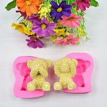 Sugarcraft Мини силиконовая форма «Медведь» помадка форма для украшения торта инструменты форма для шоколадного мыла