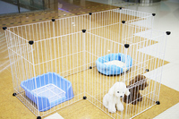 Multifunctional pet fence Super strong bearing iron cage The pet dog cat rat rabbit fence Specifications: 10 piece