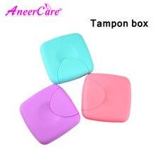 Tampons boîte femmes serviette hygiénique Tampon Tampon boîte Portable voyage boîte vagin tampons similaires avec coupe menstruelle pour garder Tampon