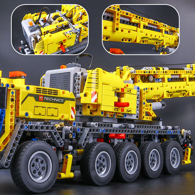 DHL 20004 Technic Motor Power Mobile Crane Mk II Model Building Kits Blocks Bricks Birthday Compatible with Legoings 42009 Toys 4