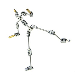 DIY not-Ready-made animation studio armature kit for stop motion puppet with different heights of human body skeleton