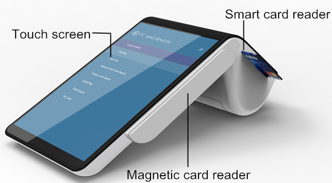 Android Pos Device Pt7003 System With Nfc Mifare Credit