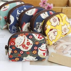 Retro Mini Bag Vrouwen Portemonnees Kawaii Korte Portemonnee Meisjes Kat Kleine Canvas Portemonnee Kaart Tassen Womens Hand Portemonnees voor dames Kids(China)