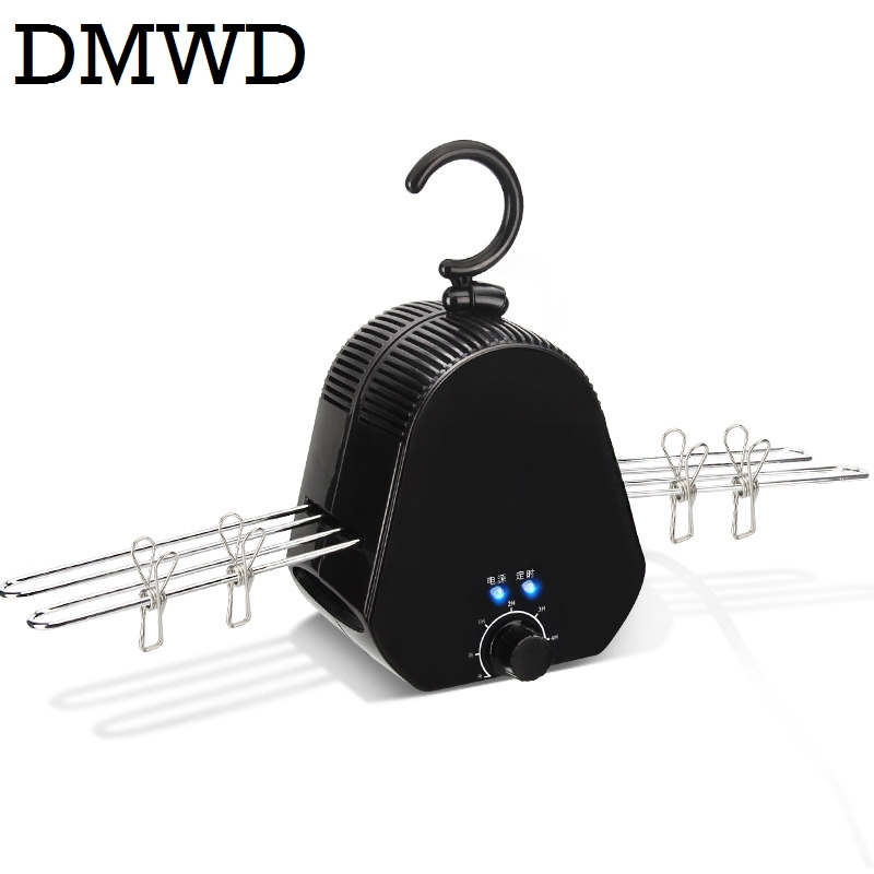 DMWD electric cloth dryer Mini baby colthes Shoes drying machine Laundry Hanger travelling outdoor heating Rack warmer 110V-220V