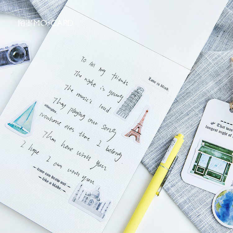 Venda quente 45 pçs/set trave sozinho caderno diário desenho pintura graffiti capa macia almofada de papel memorando material escolar escritório presente