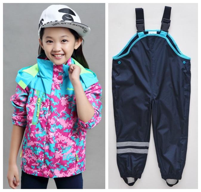 Весна и осень мальчиков и девочек куртки пиджаки + пояса брюки мальчика девушки комплект
