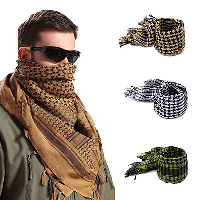 Fashion Military Men Scarves Shemagh Arab Tactical Desert Army Shemagh Keffiyeh Scarf Wraps Apparel Accessories