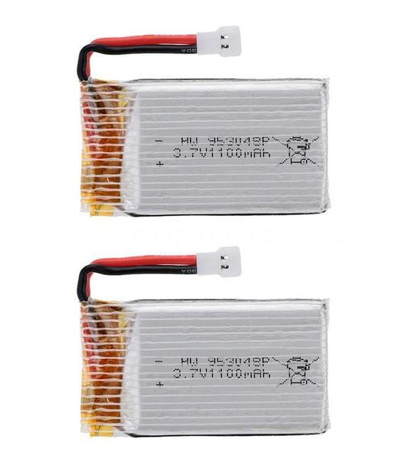 2pcs/lot 3.7V 1100mah 25C 1S VOLT 30C Lipo Battery Akku + X4 Charger For Syma X5SW RC Quadcopter Drone