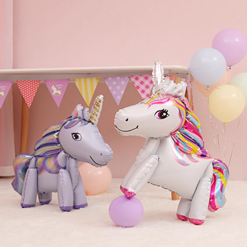 57cm Rainbow Unicorn Balloons For Unicorn Birthday Balloon Party 9
