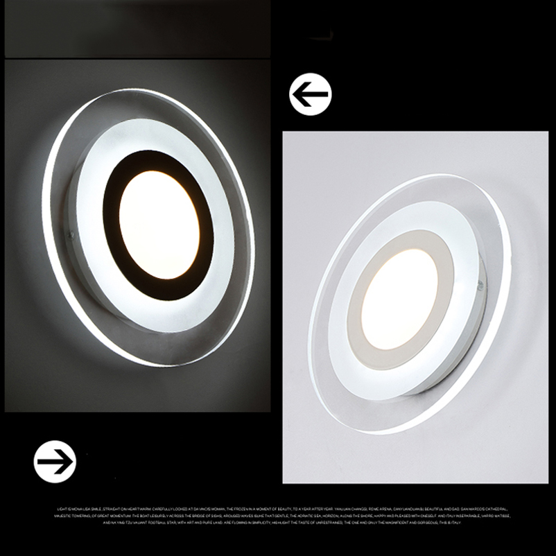 Naujos mados vadovaujamos sieninės lempos, akrilo liemenėlė, 10v - Vidinis apšvietimas - Nuotrauka 3