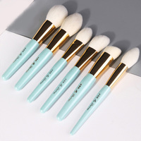 12pc lake blue series facial eye makeup brush set foundation eye shadow blush brush full set of wool professional beauty tool
