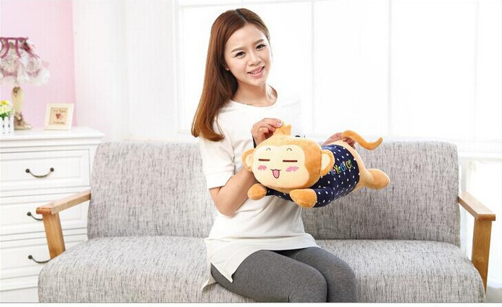 about 50cm yoci monkey plush toy prone monkey doll throw pillow gift w6172