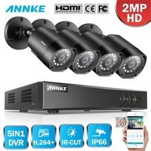 ANNKE 1080 P 5in1 8CH Lite H.264 + DVR 1080 P HD TVI Smart пуля ИК непогоды охранная Камера видеонаблюдения CCTV Камера Системы