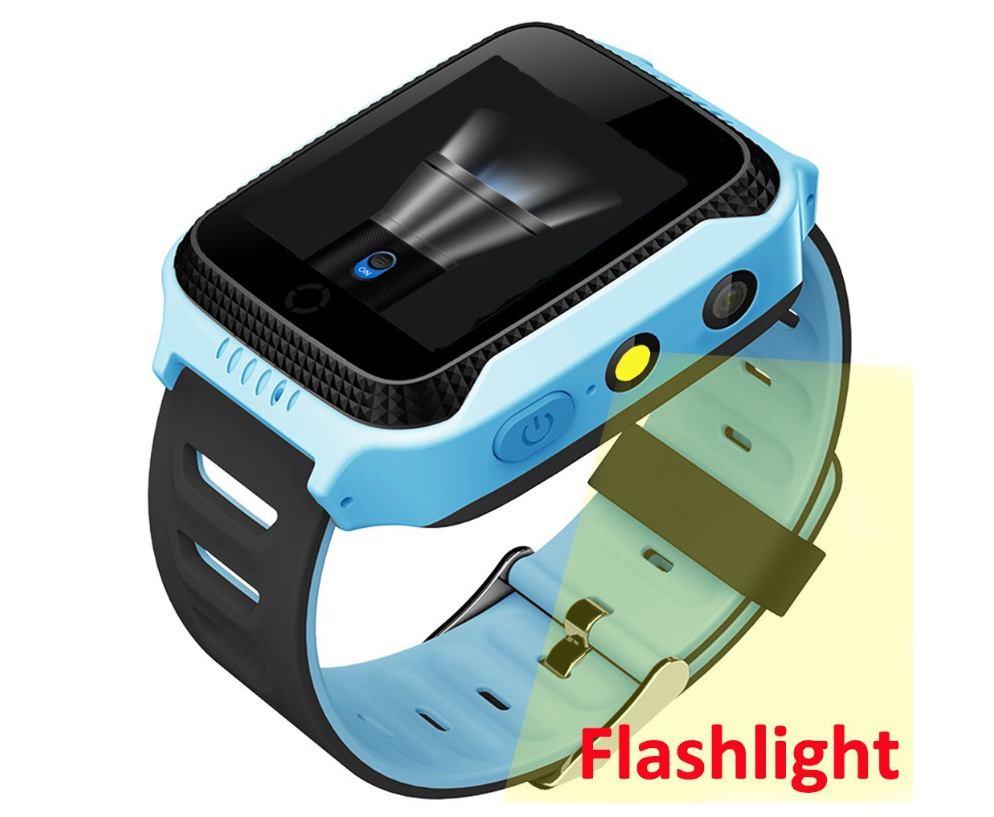2018 Y21 Children GPS Smart Watch With Flashlight Baby Watch 1.44inch SOS Call Location Device Tracker for Kid Safe watches