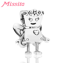 MISSITA Lovely Flower Fairy Bella Beads fit Pandora Charms Bracelet Necklace for Women Jewelry Making Ladies Accessories