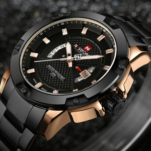 Image 3 - Top Luxury Brand Mens Watches NAVIFORCE Men Full Steel Date Waterproof Sport Army Military Quartz Wrist Watch Clock Reloj hombre
