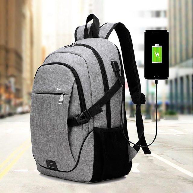 Kobiet i torba męska 2020 nowych moda wielofunkcyjne usb plecak na laptop z ładowaniem mężczyźni torba studencka kobiet jednolity kolor plecaki damskie