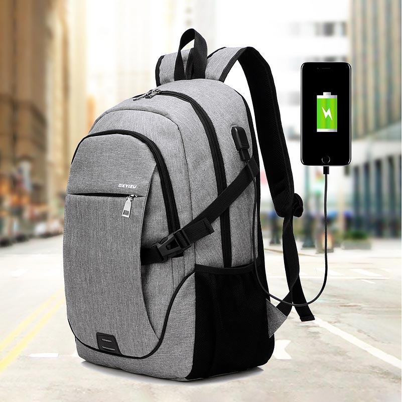 Women&men Bag 2019 New Fashion Multifunctional Usb Charging Laptop Backpack Men Student Bag Women Solid Color Female Backpacks