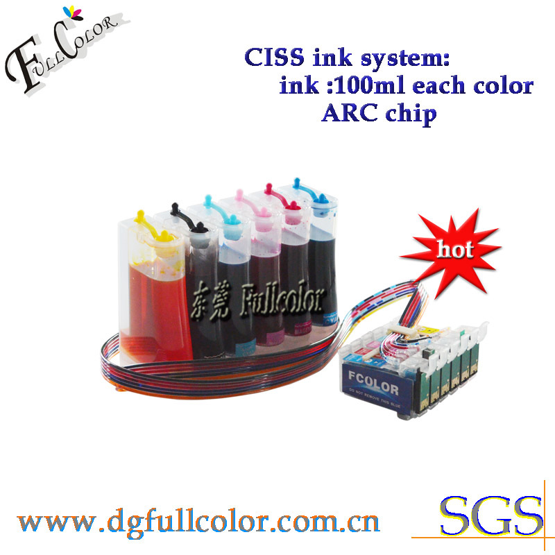 Free Shipping! Top quality eco-solvent ink system ciss for epson 1400 1410 1500W inkjet printer купить