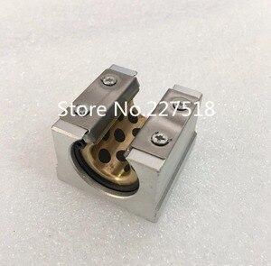 4 Uds alta calidad SBR16UU grafito funda de cobre de Cojinete de bolas de movimiento lineal bloque deslizante encuentro SBR16 16mm riel lineal de guía