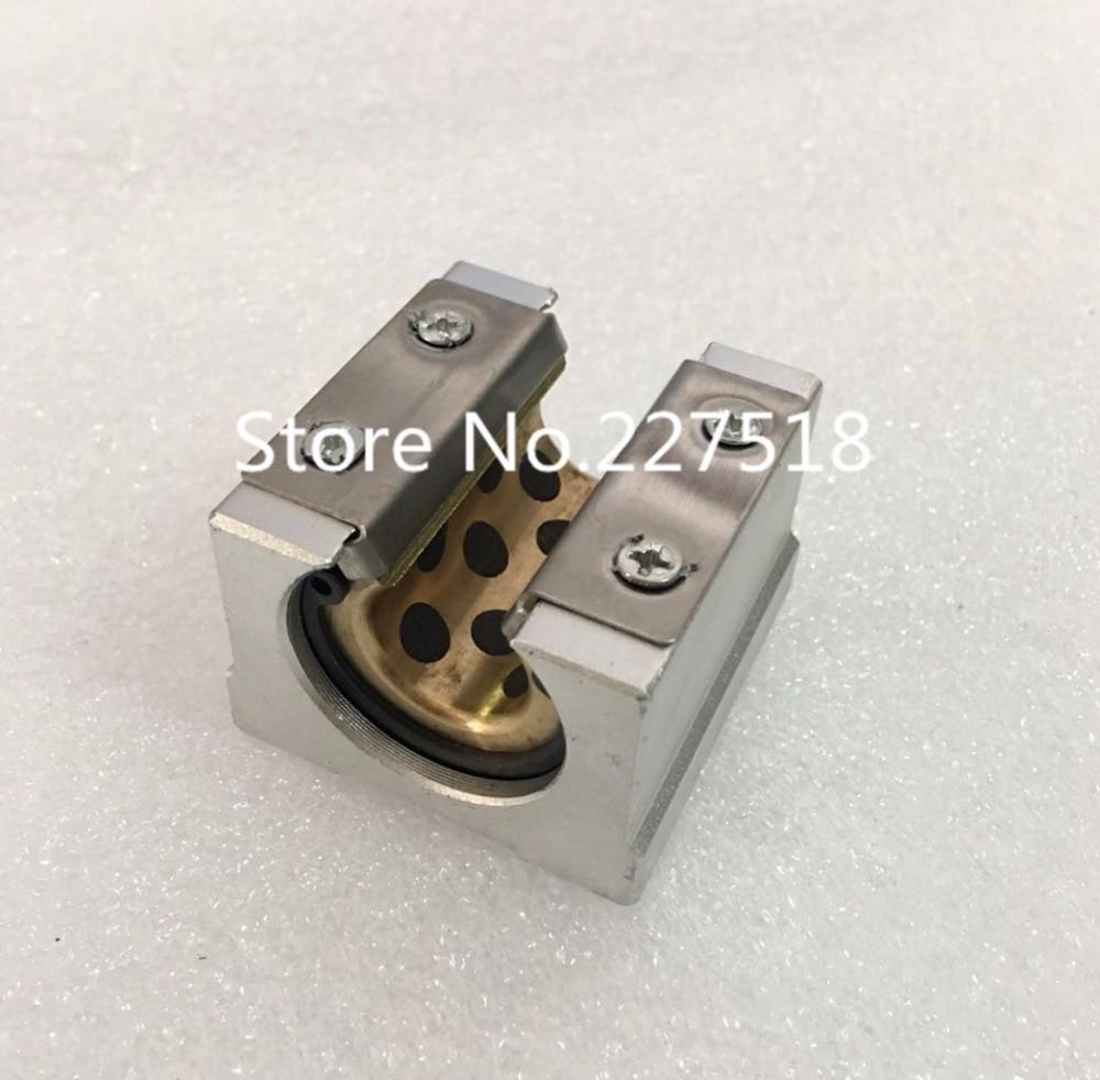 4pcs high quality SBR16UU Graphite copper sleeve Linear motion ball bearing slide block match SBR16 16mm linear guide rail