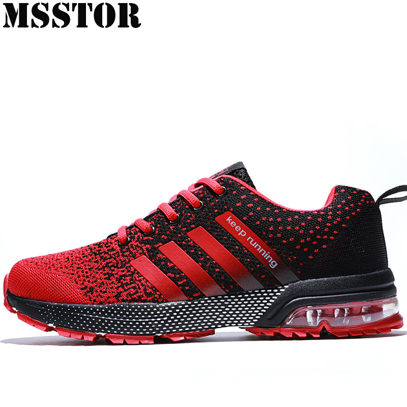 MSSTOR Spring New Unisex Running Shoes Man Brand Breathable Mesh Sport Shoes For Women Outdoor Athletic Super Light Men Sneakers xtep brand breathable running shoes for women light air mesh cushioning professional shoes athletic sport sneakers 983118119066