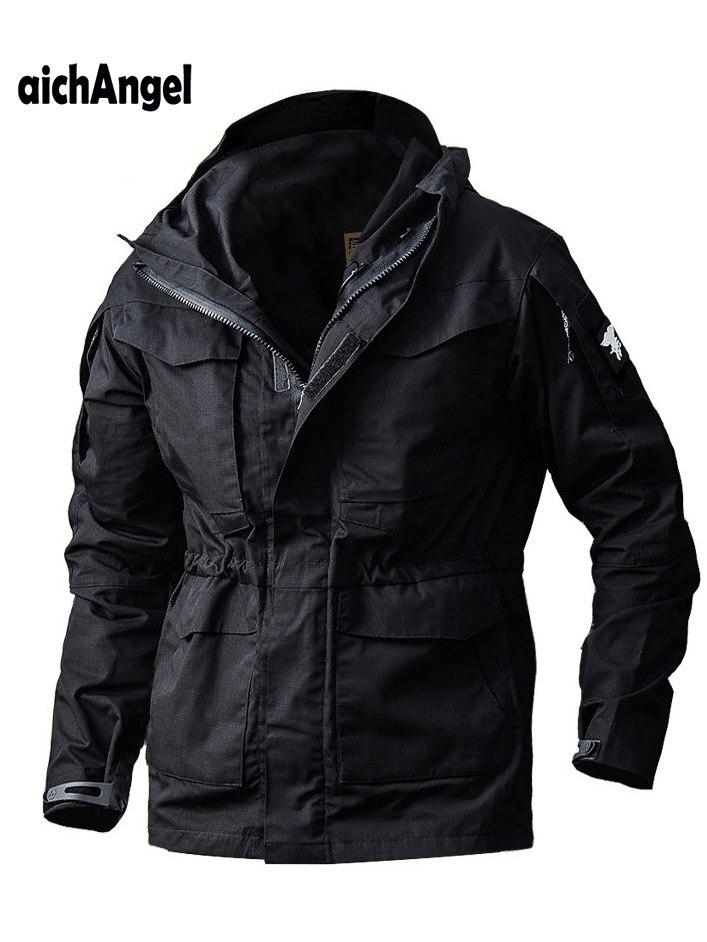 M65 Pilot Tactical Jackets Men Casual Waterproof Windbreaker Rip-stop Military Camouflage Jackets US Army Hoodie Field Coat
