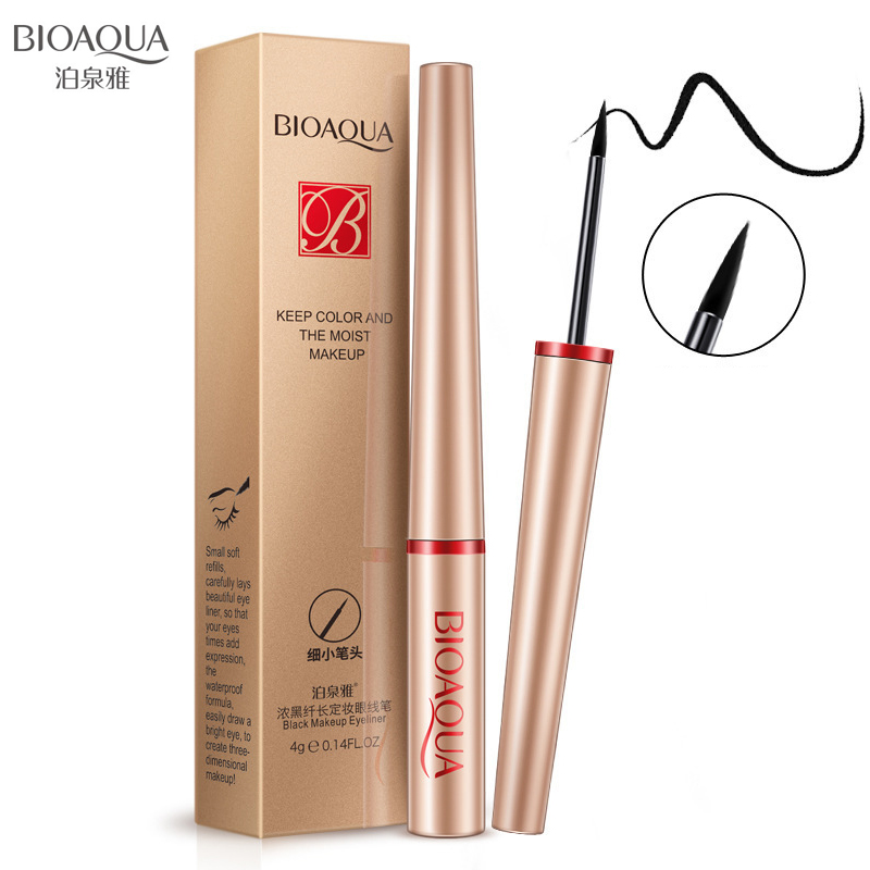 BIOAQUA Black Waterproof Liquid Eyeliner Make Up Beauty Comestics Long-lasting Eye Liner Pencil Makeup Tools for eyeshadow