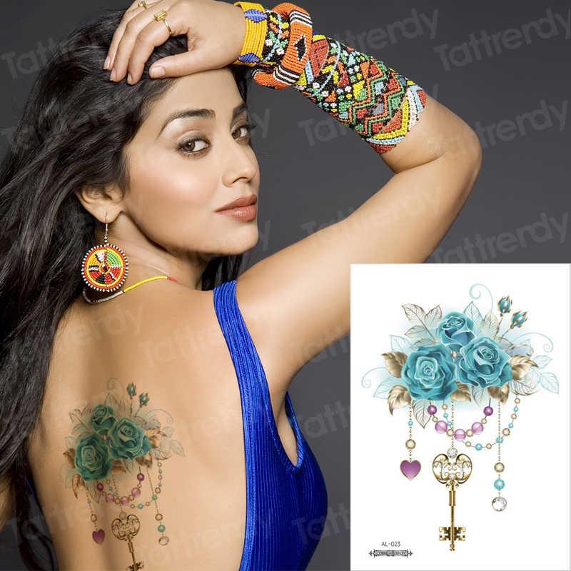 Tatuagem adesivos flor jóia do corpo falso tatuagens tatuagem temporária à prova d' água para as mulheres peitos tatuagem adesivos mama biquíni