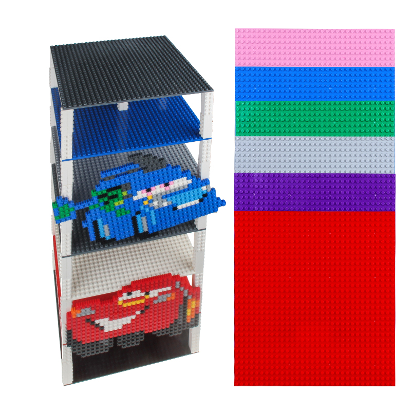 4PCS 25X25CM 32X32 Dots Double Side Base Plate for Small Bricks With 160PCS 2X2 Small Blocks Toy For Children Compatible Legoed цена