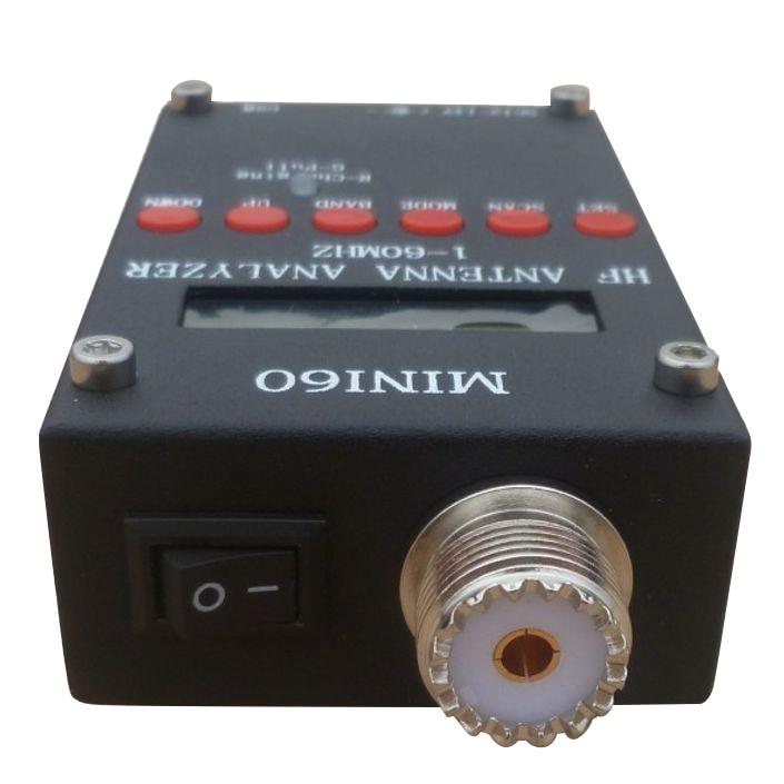 SCLS Mini60 sark100 HF ANT SWR Antenna Analyzer Meter For Ham Radio Hobbists Black mini60 antenna analyzer meter 1 60mhz sark100 ad9851 hf ant swr for ham radio hobbists hot