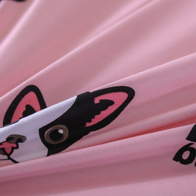 Прекрасная собака девушки украшения комнаты Постельные покрывала кровать Простыни наволочки и Набор пододеяльников для пуховых одеял 3/4 ш...