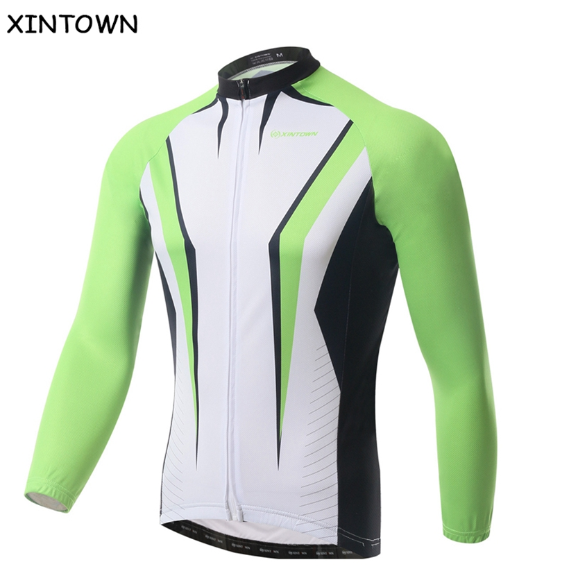 XINTOWN Green Mountain Bike Jersey Long Sleeve Clothing Cycling Ropa Cilismo Top Bicycle Wear Jacket/Sport Riding Racing Clothes