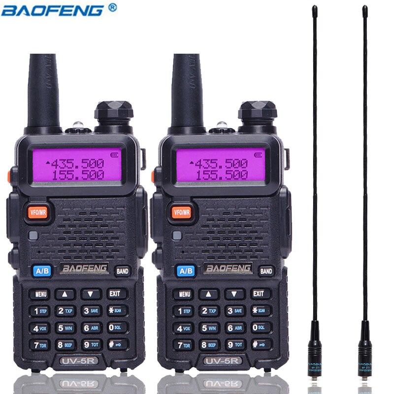 2PCS Baofeng UV 5R 5W Walkie Talkie UV5R handheld Comunicador Transmitter Transceiver Long Range Radio 2PCS