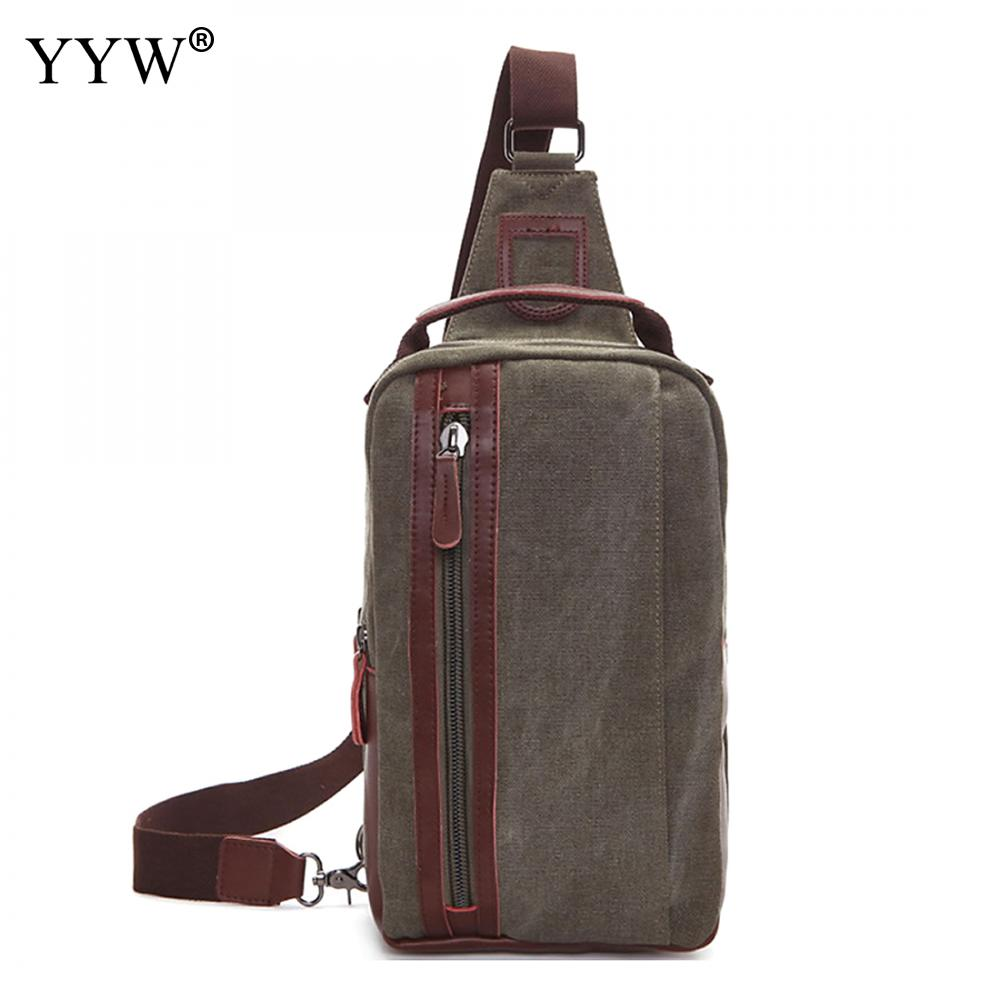 Canvas Sling Bag New Arrival Men Chest Bag Crossbody Back Pack MenS Shoulder Bag Multifunction Small Travel Bag Bolsa Masculina