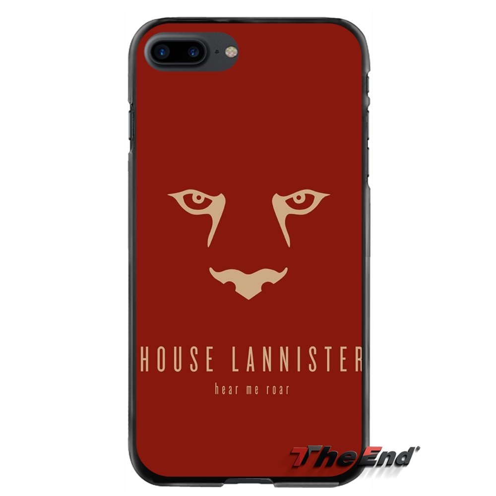 Accessories Phone Shell Covers Lannister Logo Game of Throne For Apple iPhone 4 4S 5 5S 5C SE 6 6S 7 8 Plus X iPod Touch 4 5 6