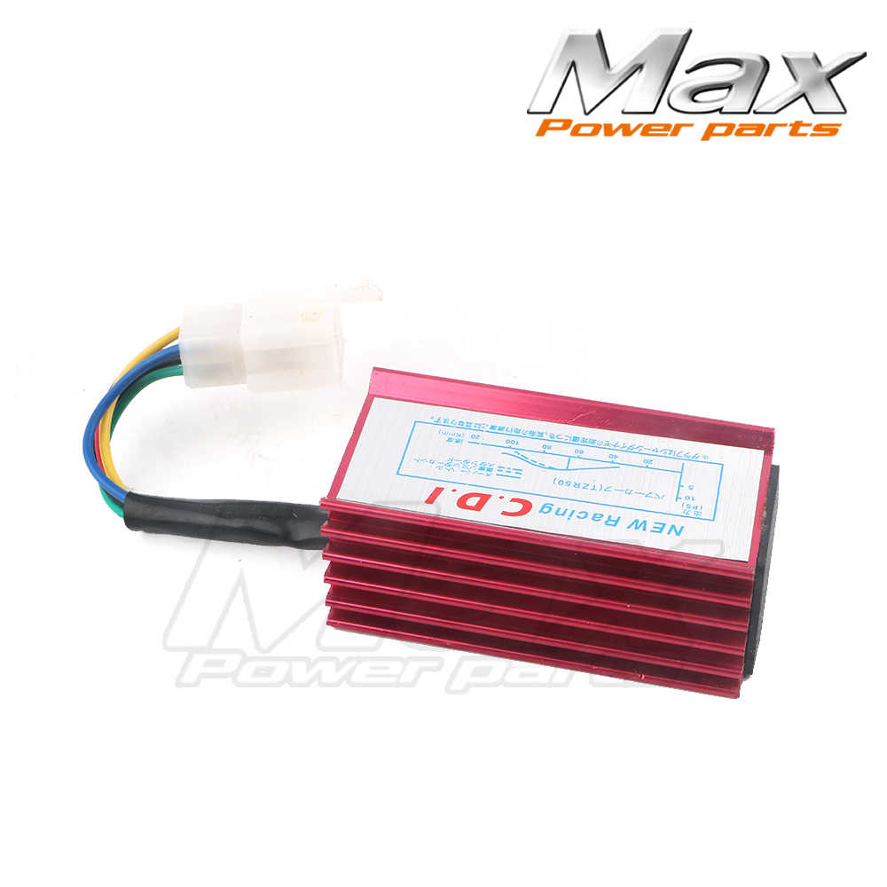 Max New Pack of GY6 50cc Scooter Moped Racing CDI Box 5 Pin Ignition Coil  Red High Quality Free Shipping