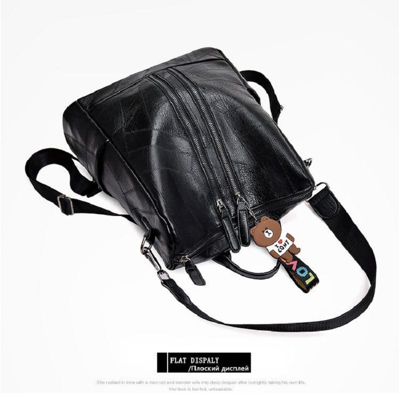 2019 Fashion Women Backpack High Quality Youth Leather Backpacks for Teenage Girls Female School Shoulder Bag Bagpack mochila in Backpacks from Luggage Bags