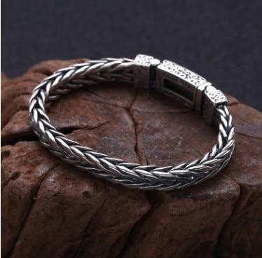 925 silver bracelet men friendship bracelets 20cm mens jewellery 11mm mens bracelets braclet men boyfriend gift silver 925 10mm