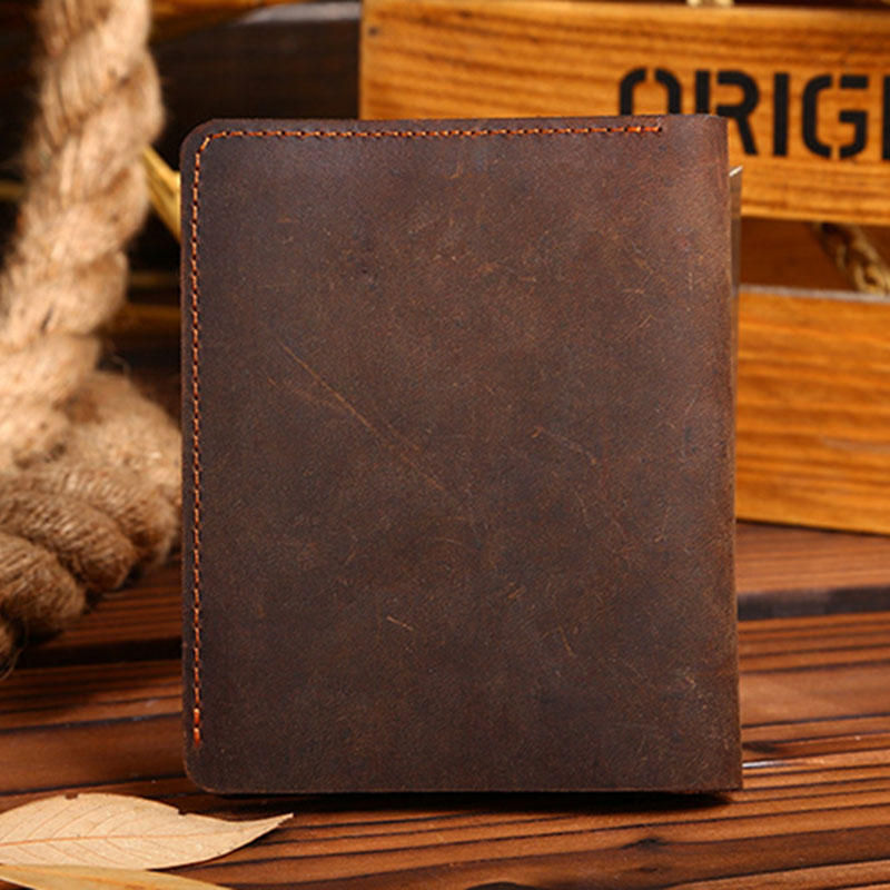 Wallet men crazy horse leather men wallets 100% genuine leather purse male clutch money bag small top quality guarantee !!!