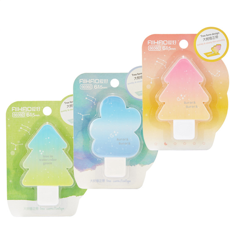 Correction Tape Novelty Tree Cute Kawaii Decorative Correction Tape Stationery For Kids Gift Office  School Supplies 6m