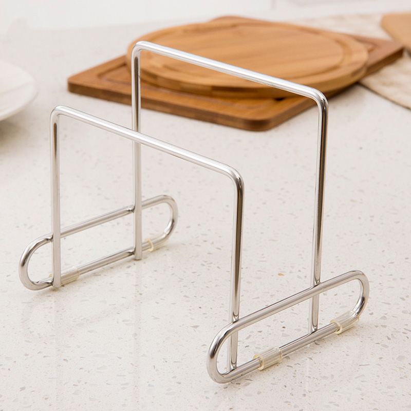 Cutting Board Holder Knife Block Tools Organizer Kitchen Storage Rack Stainless Steel Dish Rack Cutting Boards Stand